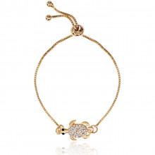 1A0044 Безразмерный браслет Черепаха на счастье цвет золото