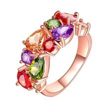 1E0001-1-17 Кольцо с позолотой, размер 17