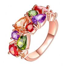 1E0001-1-18 Кольцо с позолотой, размер 18