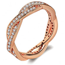 1E0015-1-17 Кольцо с позолотой, размер 17