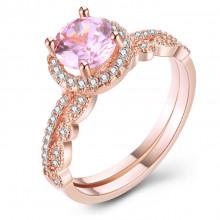 1E0043-1-17 Парные кольца с позолотой, размер 17