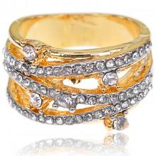 1E0054-1-19 Кольцо с позолотой, размер 19