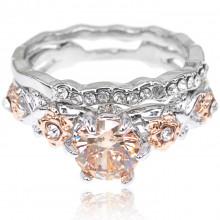 1E0083-1-18 Парные кольца с посеребрением, размер 18