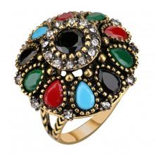 1E0108-18 Кольцо со стразами, размер 18