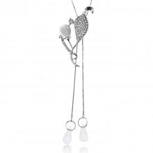 1F0037 Кулон Бутон на цепочке, цвет серебро
