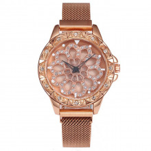 1H0003-5 Часы с вращающимся циферблатом, цвет золотой
