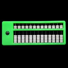 AB001-3 Счеты абакус (соробан) 13 рядов 26х10см, цвет салатовый