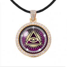 ALD006 Амулет Всевидящее око, цвет светлое золото