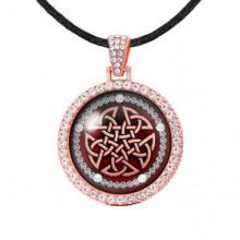 ALD202 Амулет Кельтский пентакль, цвет розовое золото