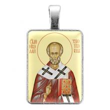 ALE302 Нательная иконка Святой Николай Чудотворец