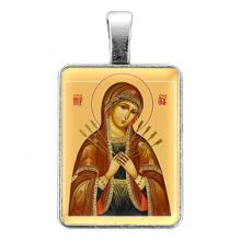 ALE310 Нательная иконка Пресвятая Богородица (Семистрельная)