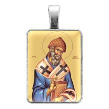 ALE313 Нательная иконка Святой Спиридон Тримифунтский