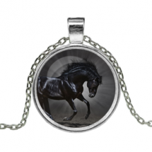 ALK117 Кулон с цепочкой Конь