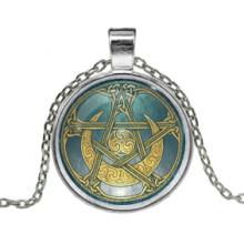 ALK127 Кулон с цепочкой Лунная пентаграмма