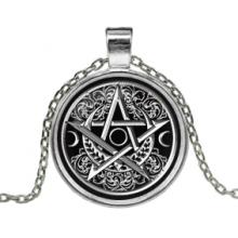 ALK133 Кулон с цепочкой Лунная пентаграмма