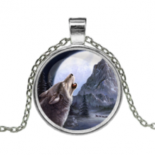 ALK149 Кулон с цепочкой Волк