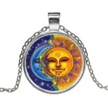 ALK153 Кулон с цепочкой Солнце и луна