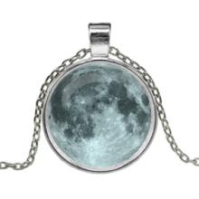 ALK169 Кулон с цепочкой Луна