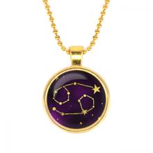 ALK504 Кулон с цепочкой Знаки Зодиака - Рак, цвет золот.