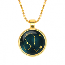 ALK505 Кулон с цепочкой Знаки Зодиака - Лев, цвет золот.