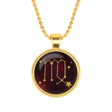 ALK506 Кулон с цепочкой Знаки Зодиака - Дева, цвет золот.