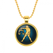 ALK519 Кулон с цепочкой Знаки Зодиака - Весы, цвет золот.