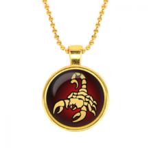 ALK520 Кулон с цепочкой Знаки Зодиака - Скорпион, цвет золот.