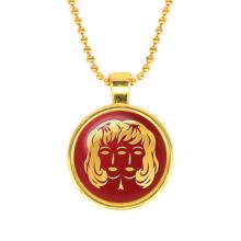 ALK527 Кулон с цепочкой Знаки Зодиака - Близнецы, цвет золот.