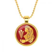 ALK530 Кулон с цепочкой Знаки Зодиака - Дева, цвет золот.