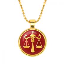 ALK531 Кулон с цепочкой Знаки Зодиака - Весы, цвет золот.