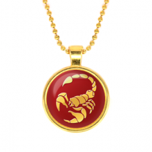 ALK532 Кулон с цепочкой Знаки Зодиака - Скорпион, цвет золот.