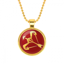 ALK533 Кулон с цепочкой Знаки Зодиака - Стрелец, цвет золот.