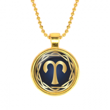 ALK537 Кулон с цепочкой Знаки Зодиака - Овен, цвет золот.