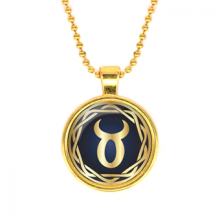 ALK538 Кулон с цепочкой Знаки Зодиака - Телец, цвет золот.