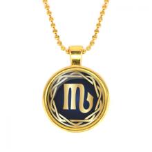 ALK544 Кулон с цепочкой Знаки Зодиака - Скорпион, цвет золот.