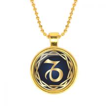 ALK546 Кулон с цепочкой Знаки Зодиака - Козерог, цвет золот.