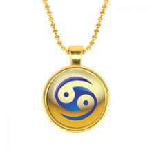 ALK552 Кулон с цепочкой Знаки Зодиака - Рак, цвет золот.