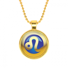 ALK553 Кулон с цепочкой Знаки Зодиака - Лев, цвет золот.