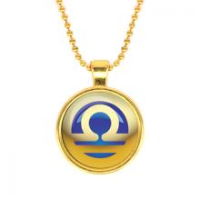 ALK555 Кулон с цепочкой Знаки Зодиака - Весы, цвет золот.