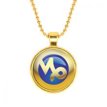 ALK558 Кулон с цепочкой Знаки Зодиака - Козерог, цвет золот.