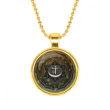 ALK569 Кулон с цепочкой Свадхистхана чакра, цвет золот.