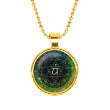 ALK571 Кулон с цепочкой Анахата чакра, цвет золот.