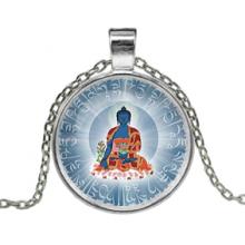 ALK630 Кулон с цепочкой Будда медицины, цвет серебр.