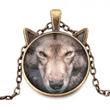 ALK701 Кулон с цепочкой Волк