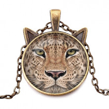 ALK710 Кулон с цепочкой Леопард