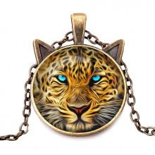 ALK714 Кулон с цепочкой Леопард