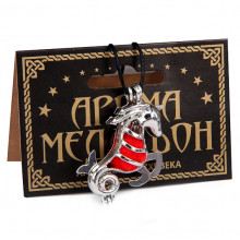 AM116-S Аромамедальон открывающийся Знаки Зодиака - Козерог, цвет серебр.