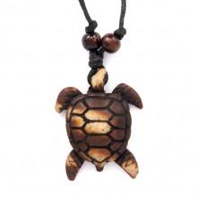 AP035 Амулет Черепаха, имитация резьбы по кости, пластик, со шнурком