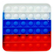 AS005 Антистресс POP IT Российский флаг 12х12см