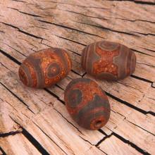 BDZ3-B22 Тибетская бусина Дзи, натуральный агат, 1 шт, размер 28~30x18~20мм